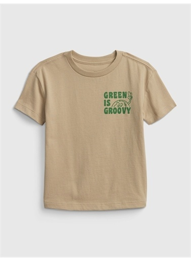 Gap Grafik Desenli T-Shirt Yeşil
